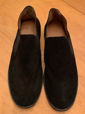 d5b20e115e3d CROWN VINTAGE black suede genuine leather slip On shoes Flats size 6 1/2