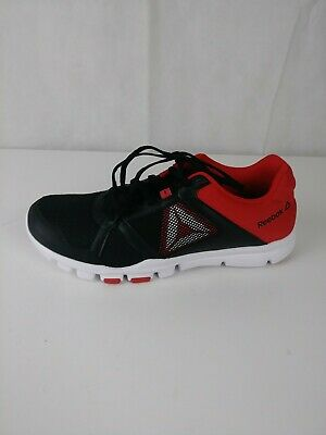 d37ceaf2b7d0 REEBOK MENS YOURFLEX Trainer 8.0 CrossFit Shoes RUNNING GYM RED ...