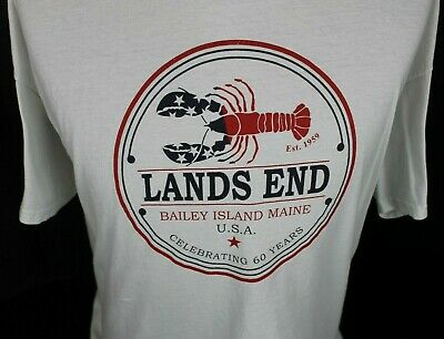 2019 Lands End Bailey Island Maine 60Th Anniversary U.s.a. T-Shirt Size Xl