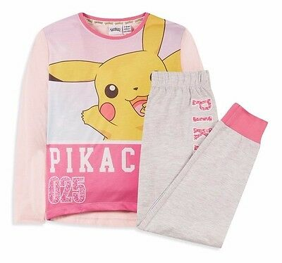 PRIMARK Girls  POKEMON GO PIKACHU 025 Pyjama Set Pyjamas Top Lounge Pants 11-12