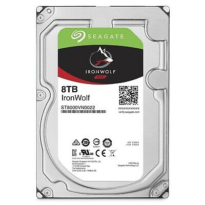 "Seagate IronWolf 8TB 3.5"" SATA Internal NAS Hard Drive HDD 7200RPM 256MB Cache"
