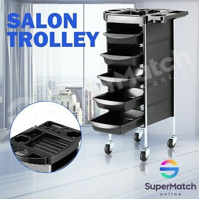 6 Tier Hairdressing Salon Trolley Rolling Storage Tray Drawer Cart Salon Tools