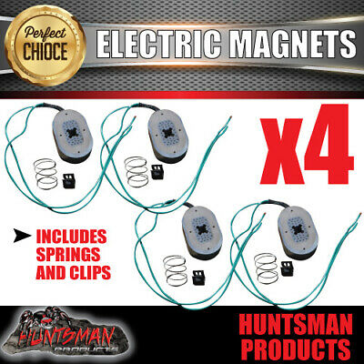 "4x Trailer Electric Brake Magnets Suit 10"" Backing Plate Caravan Camper"