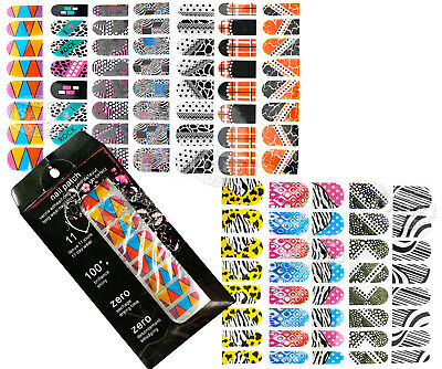 Diff 12 Style Crystal Glitter Trendy Nail Art Wraps Bling Foils Sticker Set C359