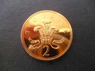 1991 Brilliant Uncirculated Two Pence Piece. 1991 Uncirculated 2P Coin.