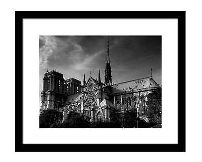 Notre Dame Cathedral 8x10 Photo Print Paris France black & white French catholic