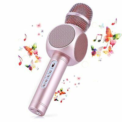 Microfono Karaoke Bluetooth Wireless Fede + Altoparlante Bluetooth con 2 Casse
