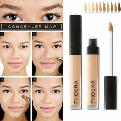 PHOERA Foundation Concealer Makeup Full Coverage Matte Brighten Long Lasting PQ