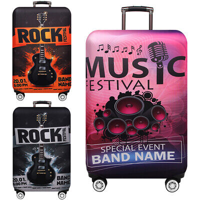 """Elastic Printed Luggage Suitcase Skin Cover Protector 18 -32"""" Thick Anti Scratch"""