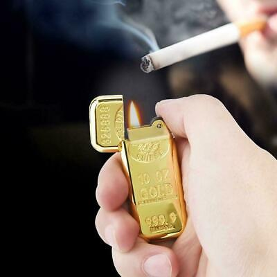 Fashion Gold Bar Sculpture Shape Gas Lighter Butane Gas Flame Flint Cigarette
