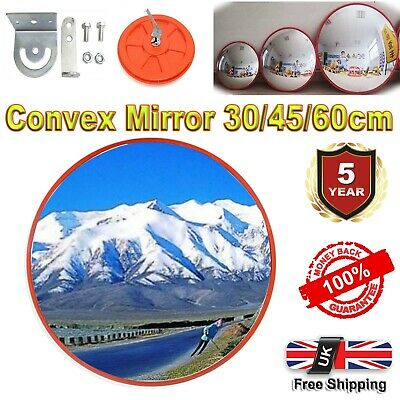 NEW Orange Wide Angle Security Curved Convex Road Mirror Traffic Driveway Safety