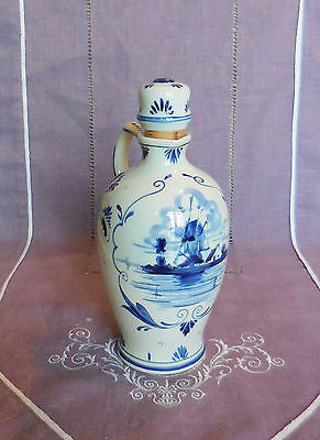 Ancienne Bouteille Delft Even Lucas Bols - Blue Handpainted - Made In Holland