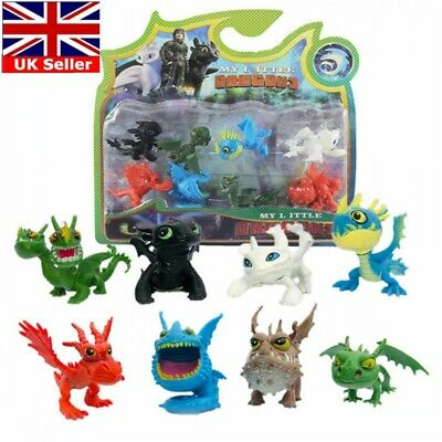 8pcs How To Train Your Dragon Night Fury Figure Hiccup Stoick Astrid Toy Gift UK