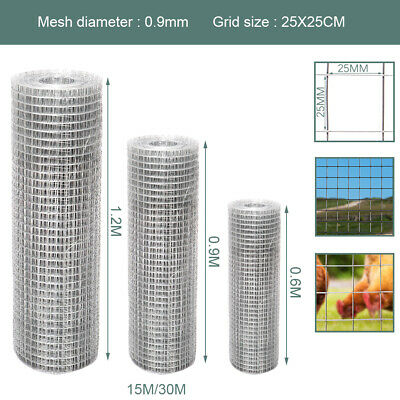 Fence for Garden Animal Industrial Wire Mesh Welded Fencing Net 25mm| Galvanized