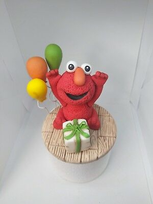Elmo Cake Topper Handmade Edible Birthday Baby Shower Party