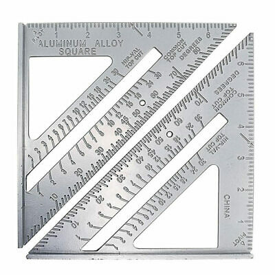 "7"" Aluminum Alloy Triangle Angle Protractor Speed Square Rafter Ruler Meter nice"
