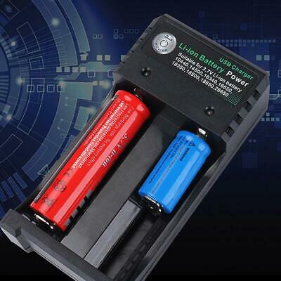 2 Slots Smart Battery Charger For 3.7V 18650 Rechargeable Li-Ion Battery USB Box