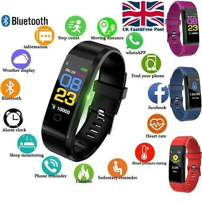Fitness Smart Watch Activity Tracker Kid WomenMen Fitbit Android iOS Heart Rate@