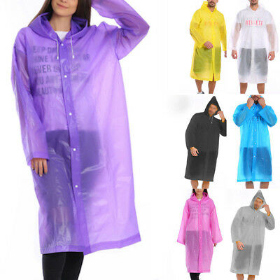 Men Women Unisex Raincoat Rain Jacket EVA Rain Coat Wind Waterproof Regular NEW