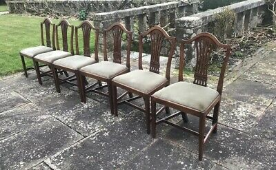 Six Genuine, Antique Dining Chairs