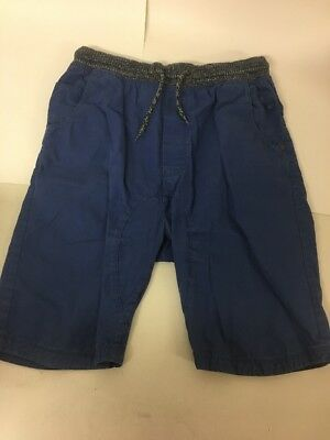 Next Boys Cargo Shorts Blue Adjustable Elasticated Waist Ties 16 Years Cotton