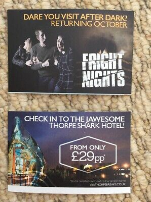 2 Adult OR Child Thorpe Park Resort Theme Park Tickets VALID ANY DAY Until Sept
