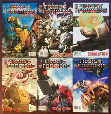 Transformers Escalation #1 to #6 complete series Includes variants (IDW 2006)
