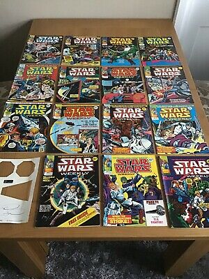 15 X Vintage STAR WARS Weekly Comics Marvel UK Issues 1 to 16. Missing No 13.