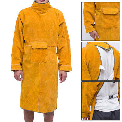 Leather Welder Welding Protective Gear Apron Work Safety Workwear Blacksmith NF