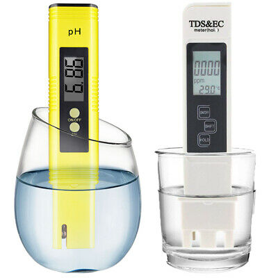 3in1 TDS EC Temperature Meter + pH Tester Hydroponics Pools Drinking Water Test