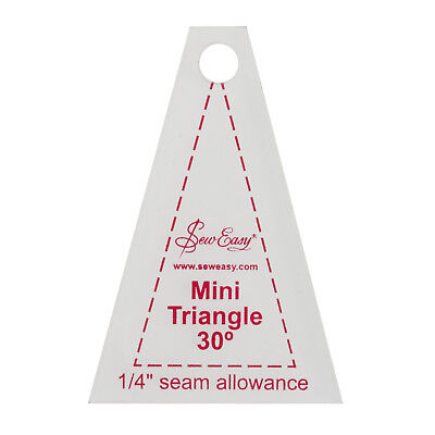 "SEW EASY MINI 30 DEGREE TRIANGLE TEMPLATE 1.7""x 2.5"" PATCHWORK quilting sewing"