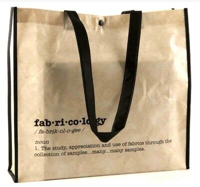 Fabricology - Sewing Themed Bag For Life - Reusable Shopping Carrier Tote Bag