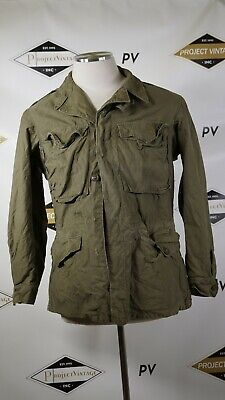 A03911 VTG US ARMY 1943 WWII WW2 Cold Weather Field Coat Military Jacket Sz 34R