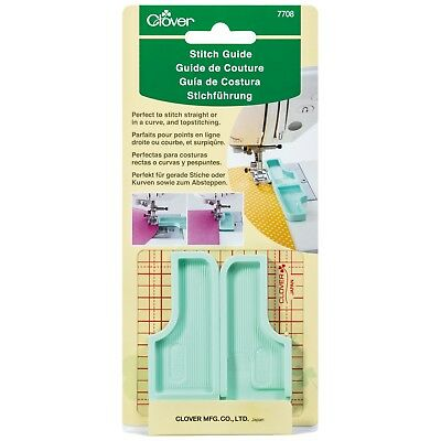 CLOVER 6-IN-1 STICK & STITCH SEAM GUIDE - sewing machine guide - two-piece