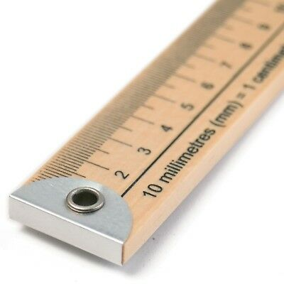 """SEW EASY WOODEN METRE RULER STICK IMPERIAL / METRIC - 100cm /36"""" SEWING"""