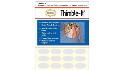 Colonial Thimble-It- 64 Finger Ovals Pads -Thimble Perfect For Patchwork Sewing