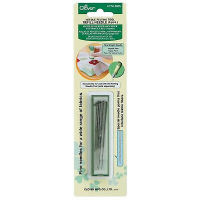 Clover Needle Felting Tool Refill Needles Fine Weight 5 Special Points Interlace