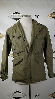 A03912 VTG US ARMY 1943 WWII WW2 Cold Weather Field Coat Military Jacket