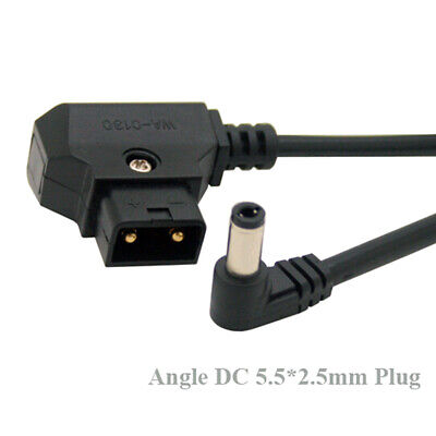 D-Tap male to right angle DC 5.5x2.5mm cable fr DSLR rig power v-mount ^S