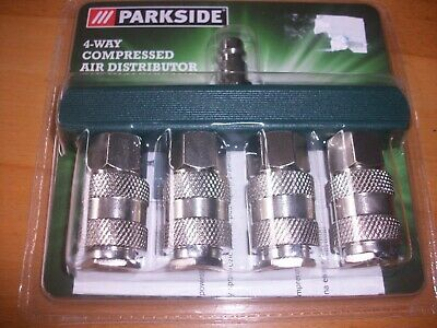 parkside 4-way compressed air distributor new sealed made in germany
