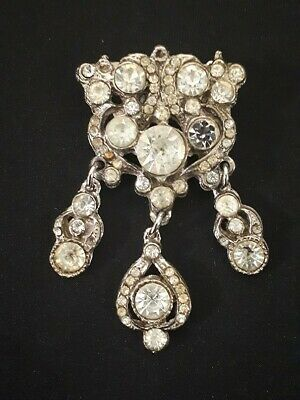 Antique costume jewellery 1940s vintage brooches