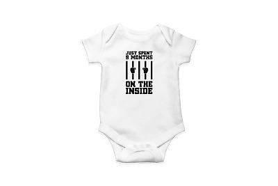 I Just Spent 9 Months On The Inside Babygrow - Funny Cute Novelty Baby Newborn