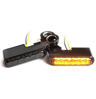 """IRON OPTICS"" LED Blinker Lenkerarmaturen Harley Davidson Softail 2001-2014"