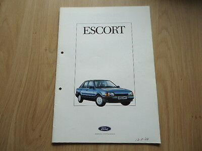 Ford Escort Brochure / Prospekt 1988
