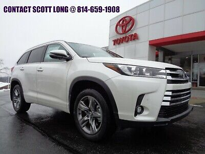 2019 Toyota Highlander New 2019 Highlander Limited Platinum AWD 7 Pass New 2019 Highlander Platinum AWD Nav Heated Leather Sunroof Blizzard Pearl Paint