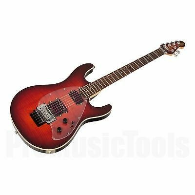 Music Man USA Steve Morse Y2D FR SR - Solar Flare MH - demo * NEW * floyd rose