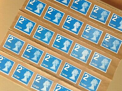 25 X 2Nd Class (Large)Unfranked Stamps Self Adhesive Easy Peal F/v £20.75