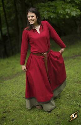 Medieval Basic Style Dress in Heavy Cotton for Costume, Re-enactment & LARP