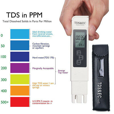 3 in1 Digital TDS EC TEMP Meter Water Quality Tester Purity Filter Pen 0-9990ppm
