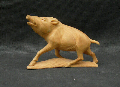 Black forest? hand carved warthog wild boar finely carved beautiful piece